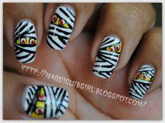 MAQUICLUB GIRL: HALLOWEEN 2012: Mummy Nails (Uñas de Momia)