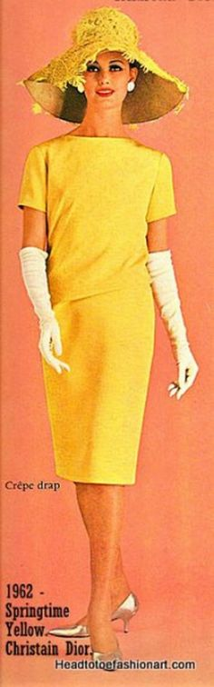 1962 Springtime Yellow with white gloves.