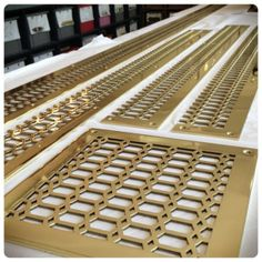 Heavy Gauge Brass Floor Grill Sizes Up To 8 X 24 Available