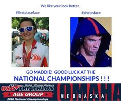 GOOD LUCK Maddie Hanley ! ! ! !   #USATAGAC #Triathlon #Phelpsface #Winning #rio2016