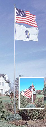 telescope flag pole