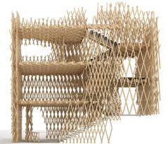 Stunning timber lattice façade - Bamboo basket: Shop by Kengo Kuma Wood Architecture, Japanese Architecture, Amazing Architecture, Architecture Details, Architectural Section, Architectural Elements, Architectural Models, Hinoki Wood, Tokyo Shopping