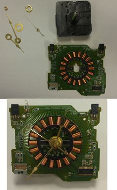 Old computer part ..this is from a floppy drive...remember those!!.. stick a clock in it for a unique piece for office