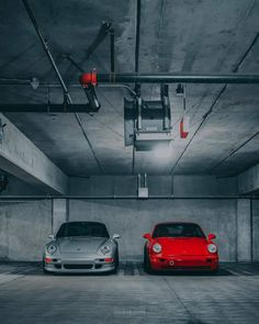 "luftgekühlt911 on Instagram: ""Concrete cave. 993 and 964. Aircooled pairing for the driving enthusiasts. 📷@cooled.collective 993 owner @mike9eleven, 964 owner…"""