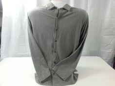 Mens Polo Ralph Lauren Sweater Button Front Gray Size XL Cotton #PoloRalphLauren #ButtonFront