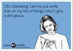 my list of things