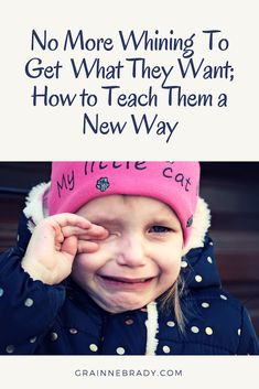 Your child has learned crying gets everything. To stop them crying to get what they want you have to teach them to use their words to ask for what they want Conscious Parenting, Mindful Parenting, Peaceful Parenting, Gentle Parenting, Parenting Advice, Stop Whining, Your Child, Behavior, Crying