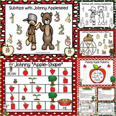 Are you looking for NO PREP literacy and math games for pre-k, kindergarten, or first grade? Then enjoy this phonics and math resource which is comprised of FIVE different JOHNNY APPLESEED themed games complete with a color version and black and white version of each game. The games can be used for small group work, partner collaboration, or homework! Children will identify shapes, make patterns, subitize, identify letters, and match letters while playing these games.