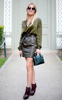 Fanny Massoutre from Street Style: Boots  Boots by Hermes.