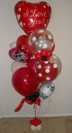 Medium I love you beyond words balloon bouquet delivery arrangement $106 created by balloonsandmoregifts.com