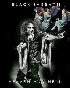 Ronnie James DIO-Black Sabbath.......... Arte Heavy Metal, Heavy Metal Music, Hard Rock, Rock Posters, Concert Posters, Classic Rock Artists, Hair Metal Bands, Musica Disco, Classic Rock