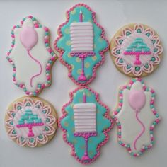 Perfect for a party! Cookies by Doughmestic Housewife.