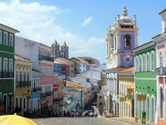 Salvador da Bahia, Brazil. The heart of town, the Pelourinho, dates from the 17th century and is on UNESCO's list of World Heritage Sites.