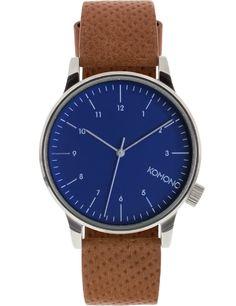 Blue Cognac Winston Watch