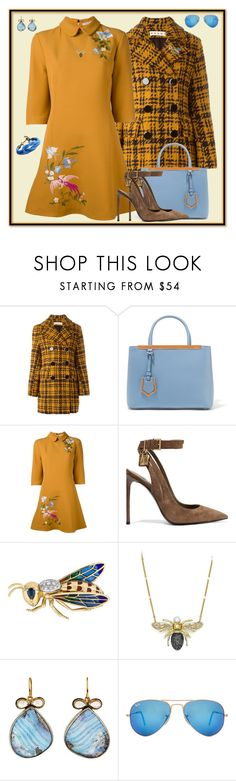 """October: Blue Skies, Golden Fields"" by winscotthk ❤ liked on Polyvore featuring Marni, Fendi, VIVETTA, Tom Ford, BaubleBar, Judy Geib and Ray-Ban"