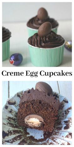 Cadbury's Creme Egg Cupcakes with a surprise inside.... Perfect for an Easter treat....