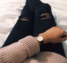 Beautiful watch! Fall outfit
