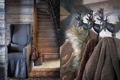 Sletvoll. Love the deer coat hangers. #rustic