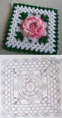Tack with a flower knitted a hook. A beautiful tack for kitchen a hook rose, crochet, can be a nice d - Salvabrani Another inspiring and simple c This Pin was discovered by Cla Shrink your URLs and get paid!Handmade shabby chic crochet tablet cover w