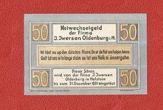 Germany Notgeld 50 pfennig 1921 Schleswig Holstein Oldenburg in pf #28