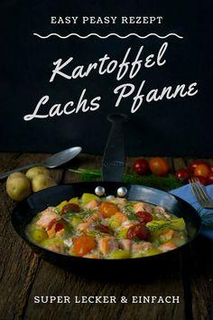 Kartoffel Lachs Pfanne mit Dill und leichter Sahnesauce