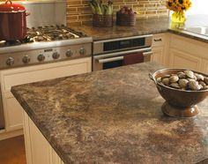 Looks like granite and super inexpensive.excellent consumer report rating (Formica laminate countertop in Red Montana) Kitchen Cabinet Remodel, Kitchen Cabinet Colors, Kitchen Decor, Kitchen Ideas, Laminate Countertops, Kitchen Countertops, Kitchen Cabinets, Manufactured Home Renovation, Interior House Colors