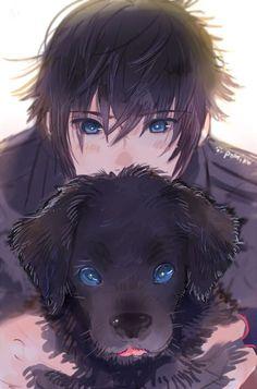 Noctis and puppy final fantasy xv pokémon kawaii, cute anime boy, boy Manga Boy, Manga Anime, Art Manga, Fanarts Anime, Anime Art, Hot Anime Boy, Anime Boys, Cute Anime Guys, Final Fantasy Xv