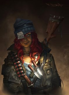 Post-Apocalyptic Women | Cyclop Picture (2d, character, cyclop, girl, woman, post apocalyptic)