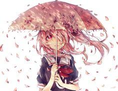 Yuno Gasai ♡ Mirai Nikki - Umbrella with roses ☂️🌹 Anime Plus, Anime W, Girls Anime, Anime Kawaii, Anime Love, Sad Anime, Animes Yandere, Tsundere, Corpse Party
