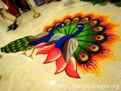 peacock rangoli designs 8