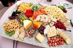 Crudits and cheese platter for a party