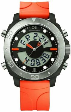 HUGO BOSS 1512681 Hugo Boss. Save 26 Off!. $129.75. Orange Silver Plated Stainless Steel Strap. Round Plastic Case. Water Resistance : 3 ATM / 30 meters / 100 feet. Chronograph Display