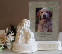 Dog Urns - Porcelain Memorial Frames and Urns for Dogs   #petloss #petsympathy #sympathyquotes #sympathygifts #petsympathygifts #personalizedsympathygifts #memorialgifts #condolencegifts #memorials #expressingsympathy #grief   http://www.thecomfortcompany.net/