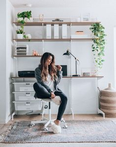 Modern Minimalist Home Office Space Ideas Home Office Design, Home Office Decor, House Design, Home Decor, Minimalist Office, Modern Minimalist, Minimalist Interior, Minimalist Bedroom, Ikea Office Chair