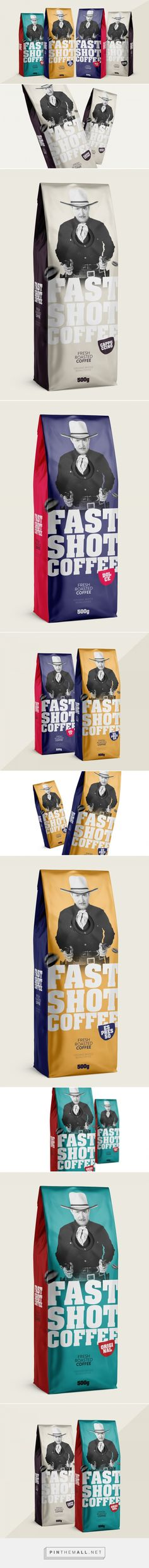 Want a fast shot? Fast Shot Coffee packaging design by ChiapaDesign - http://www.packagingoftheworld.com/2016/12/fast-shot-coffee.html