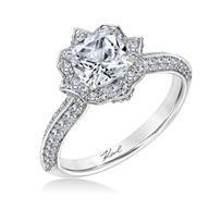 Karl Lagerfeld Halo 18k - White Gold Diamond Engagement Ring #ArthursJewelers