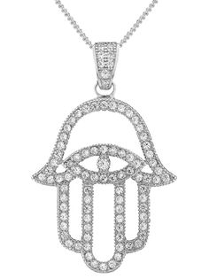 3fdaef2b9 V JEWELLERY 'Mythos Hamsa' pendant necklace - on Vein - getvein.com Hamsa