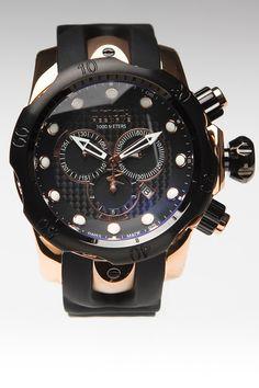 JackThreads - Reserve Swiss Made Venom Elegant Chronograph Watch Rose/Black