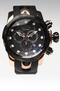 Invicta Reserve Swiss Made Venom Elegant Chronograph Watch Rose/Black