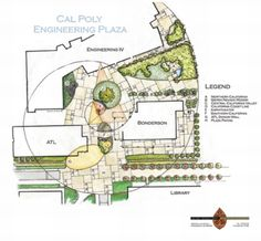 "The plans for Cal Poly's Engineering Plaza. ""As a guiding element, we selected the Fibonacci series spiral, or golden mean, as the representation of engineering knowledge,"" states Jeff Gordon Smith, an alum, and the chief designer of project."