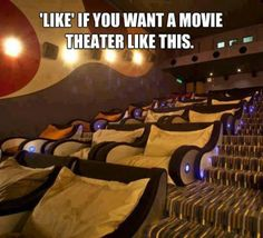 i would love love love a movie theater like this although i would probably fall asleep during the movie lol
