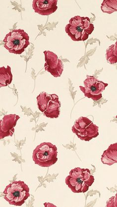 poppy poppies background pattern print