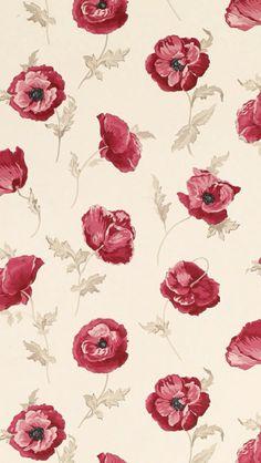 Freshford Floral Red Wallpaper by Laura Ashley Red Wallpaper, Flower Wallpaper, Pattern Wallpaper, Wallpaper Backgrounds, Screen Wallpaper, Glitter Wallpaper, Iphone Backgrounds, Wallpaper For Cell Phone, Cell Phone Wallpapers