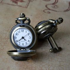 pocket watch cuff links
