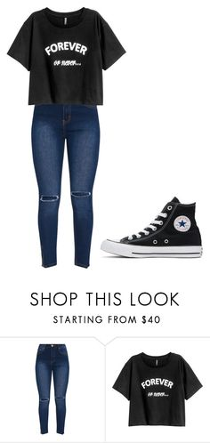 """Untitled #326"" by thenerdyfairy on Polyvore featuring Converse"