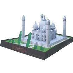 Taj Mahal, India,Architecture,Paper Craft,Asia / Oceania,India,white,white marble,grave,world heritage,building