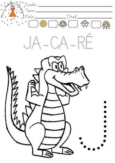 Atividades letra J para colorir