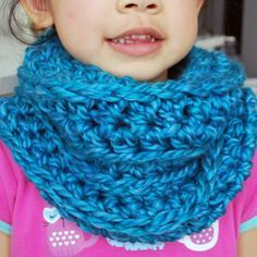 Here is a pattern for an easy to work up crochet cowl for kids. This simple cowl scarf makes a great handmade gift or stocking stuffer