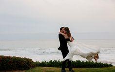 spinning the bride Dave and Katherine a Laguna Beach Wedding