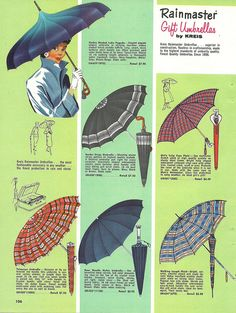 1950s Rainmaster umbrella styles (page 2 of 2). #vintage #1950s